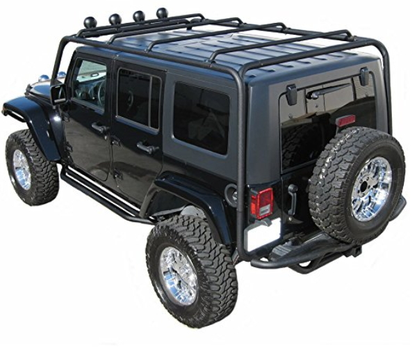 J020 Trail FX Black Roof Rack Jeep Wrangler 4 Door Jeep
